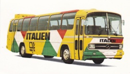 Germany 1974 FIFA World Cup Football: Team Bus On Card - Back Is Blank: Italy (DD5-43) - Coppa Del Mondo