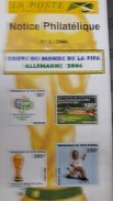 COTE D'IVOIRE IVORY COAST 2006 -   NOTTICE PHILATELIQUE PHILATELIC LEAFLET SOCCER WORLD CUP GERMANY COUPE MONDE FOOTBALL - Ivory Coast (1960-...)