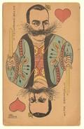 #10044[Postkaart] Victor Emmanuel III [1869-1947, Jeu De Cartes Des Souverains, Italië, Koning, Speelkaart, Karikatuur] - Hommes Politiques & Militaires