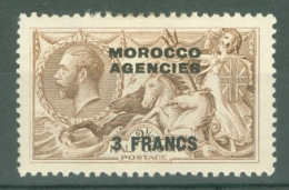 Morocco Agencies - French: 1924/32   KGV - Seahorse   SG200    3f On 2/6d    MH - Morocco (1956-...)