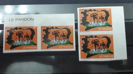 COTE D'IVOIRE IVORY COAST 2008 -   IMPERF IMPERFORATE ND NON DENTELE PAIRS- LE PARDON - ULTRA RARE - Ivory Coast (1960-...)