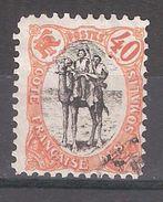 COTE FRANCAISE DES SOMALIS, 1903 , Méhariste, Yvert N° 61, 40 C Orange Et Noir , Obl TB - Usados