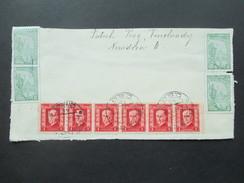 CSSR / Prag 1927 Briefstück Mit 4 Vignetten Treu Zu Christus Sanct Bonifatius Vereins Marke + 6er Streifen Marken! - Christentum