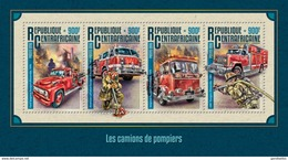 CENTRAFRICAINE 2016 SHEET FIRE TRUCKS FIRE ENGINES CAMIONS DE POMPIERS FIREFIGHTERS BOMBEROS CARRO DE BOMBEIROS Ca16211a - Centrafricaine (République)