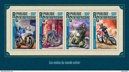 CENTRAFRICAINE 2016 SHEET MOTORCYCLES MOTORCYCLING MOTOS MOTOCICLETAS SPORTS Ca16213a - Centraal-Afrikaanse Republiek