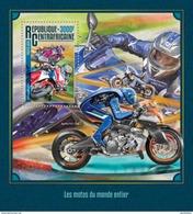 CENTRAFRICAINE 2016 SHEET MOTORCYCLES MOTORCYCLING MOTOS MOTOCICLETAS SPORTS Ca16213b - Repubblica Centroafricana
