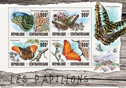 CENTRAFRICAINE 2016 SHEET BUTTERFLIES PAPILLONS SCHMETTERLINGEN BORBOLETAS FARFALLE MARIPOSAS INSECTS Ca16401a - Centrafricaine (République)