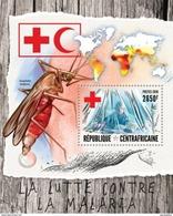 CENTRAFRICAINE 2016 SHEET FIGHT MALARIA DISEASES RED CROSS CROIX ROUGE ROTES KREUZ CRUZ ROJA VERMELHA Ca16414b - República Centroafricana
