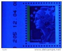 4231 Marianne Beaujard TVP Bleu 2 Bandes De Phosphore Différentes Blanc Et Jaune (2008) Neuf** - 2008-13 Marianne Of Beaujard
