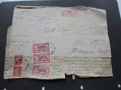 Französisch Syrien R-Brief / Vorderseite Damas R No 362 Nach Wien! MiF O.M.F. Syrie 2 Piastres. Interessant?! - Syria (1919-1945)
