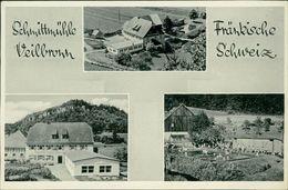 AK Heiligenstadt Veilbronn, Schmittmühle, Um 1953, Papier Rechts Durchstoßen, Rückseitig überklebt (24867) - Altri