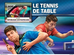 CENTRAFRICAINE 2016 SHEET TABLE TENNIS PLAYERS PING PONG SPORTS Ca16504b - Centrafricaine (République)