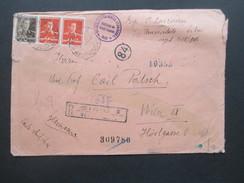 Rumänien 1943 Zensurbeleg/R-Brief Sibu-Wien. Viele Vermerke / Mehrfachzensur Der Wehrmacht! Institutul Da Studil Clasico - 2. Weltkrieg (Briefe)