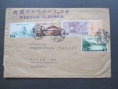 Japan 1911 Flugpost / Airmail Nach Prag! Czecho-Slovakia. Interessante Frankatur! Interessante Destination!! - Briefe U. Dokumente