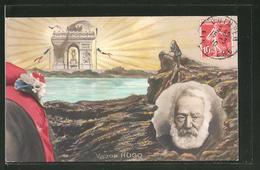 AK Portrait Von Victor Hugo, Der Dichter Am Meer - Writers
