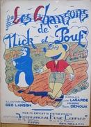 LES CHANSONS DE MICK ET POUF-ILLUSTRATIONS LANSON,PAROLES LAGARDE,MUSIQUE DENOUX - Song Books