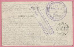 """Sur CP - Cachet """" Dépot Des Prisonniers De Guerre """" - 42 SAINT RAMBERT Sur LOIRE - Kriegsgefangenensendung - P.O.W. - WW I"""