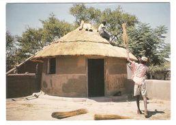 Botsuana - Botswana - Thatching - House Building - Nice Owl Stamp - Botsuana