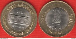 "India 10 Rupees 2016 ""National Archives"" BiMetallic UNC - India"