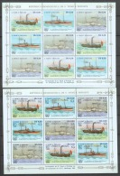Sao Tome E Principe 1984 Kleinbogen Mi 906-911A MNH SHIPS - Boten