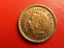 Piece Monaco 1 Francs Louis II Prince De Monaco - Monaco