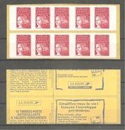 CARNET LUQUET 1998. Y&T N° 3085a-C1** Neuf De Distributeur. >10 TVP Rouge LA POSTE.Type II. +Variété. TB. - Carnets