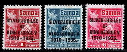 Samoa 1935 Silver Jubilee MH Set SG 177/179 - Samoa