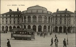 35 - RENNES - Théatre - Tram - Pub Chocolat Meunier - Rennes