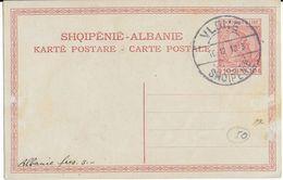 ALBANIE - 1913 - CARTE ENTIER SKANDERBERG  OBLITEREE VLONE - Albanie