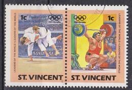 St. Vincent, 1984 - 1c Summer Olympics, Coppia - Nr.765a-765b Usato° - St.Vincent (1979-...)