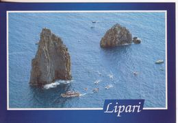107-Lipari-Isole Eolie-Messina-Sicilia-I Faraglioni Tra Lipari E Vulcano-Nuova-Nouveau-New - Messina