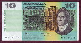 AUSTRALIE - 10 DOLLARS Francis Greenway / Henry Lawson.- 1990 - SUP - Emisiones Gubernamentales Decimales 1966-...