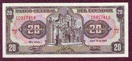 EQUATEUR - 20 SUCRES 29/04/1986 - P.121A - Ecuador