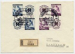 BOHEMIA And MORAVIA 1941 Winter Relief Set On Cover With Prerov Commemorative Postmark.  Michel 62-63 - Bohemia & Moravia