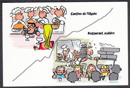 Carte Postale CFDT Pour Le Soutien Au Service Public Cantine Elysée Et Restaurant Scolaire - Syndicats