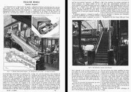 L'ESCALIER MOBILE Systéme HOCQUART  Installé Au BON MARCHE  1906 - Non Classificati