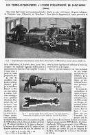LES TURBO-ALTERNATEURS à L'USINE D'ELECTRICITE De SAINT-DENIS   1906 - Sciences & Technique