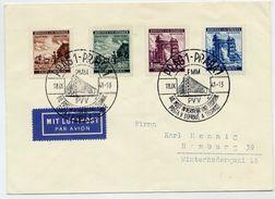 BOHEMIA And MORAVIA 1941 Prague Fair Set On Cover With Prague Commemorative Postmark.  Michel 75-78 - Bohemia & Moravia