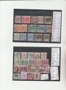TIMBRE DE SIERRA LEONE    NR  VOIR SUR PAPIER AVEC LES TIMBRES ° / * + 1 SIGNEE  1883-97  COTE 95.45 € - Sierra Leone (1961-...)