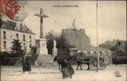 35 - RENNES - Croix De La Mission - Attelage Cheval - Rennes