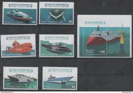 SEA TRANSPORT, 2016, MNH, MODERN SHIPS, FERRIES, 6v+S/SHEET - Barche
