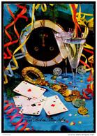 2809 - Alte Glückwunschkarte - Neujahr - Hufeisen Geld Und Spielkarten - TOP - Año Nuevo