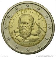 Italie  2014    2 Euro Commemo   GALILEO GALILEI   UNC Uit De Rol  UNC Du Rouleaux  !! - Italie