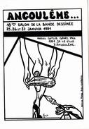 CPM (16) ANGOULÊME Salon De La Bande Dessinée 1991 Jambes De Femme Culotte Plume à Dessin Tirage Limité LARDIE - Collector Fairs & Bourses