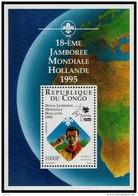~~~  Congo Brazzaville 1996 - Jamboree Scouting - Mi. Block 131 YT. BF 62  ** MNH ~~~ - Congo - Brazzaville