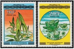 ~~~  Congo Brazzaville 1996 - Flora Waterplanten Marine Plants - Mi. 1491/1492  YT. 1021/1022  ** MNH ~~~ - Congo - Brazzaville