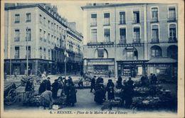35 - RENNES - Place De La Mairie Et Rue D'Estrée - Marché Aux Fleurs - Rennes