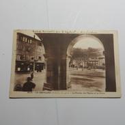 07 - Le CHEYLARD -  Le Porche De L'église Et La Place  En 1941 - France