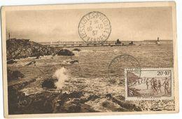 N°346 CARTE MAXIMUM LES SABLES D'OLONNE 30.10.1937 VENDEE - Cartas Máxima