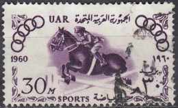 EGYPT 1960 Sports Campaign And Olympic Games - 30m Horse-jumping FU - Used Stamps